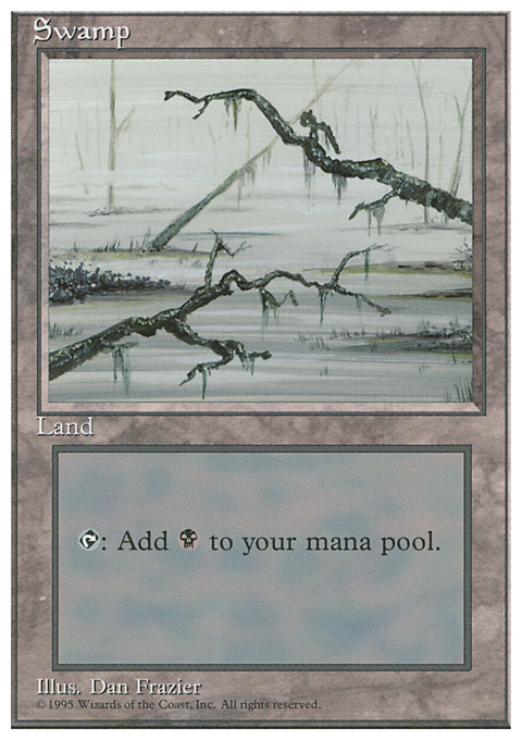 Swamp (C) card from Fourth Edition