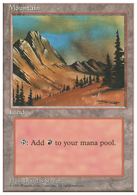 Mountain (C) card from Fourth Edition