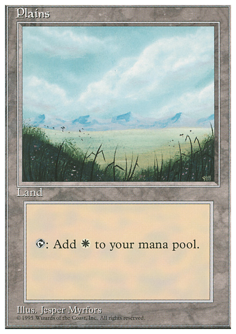 Plains (A) card from Fourth Edition