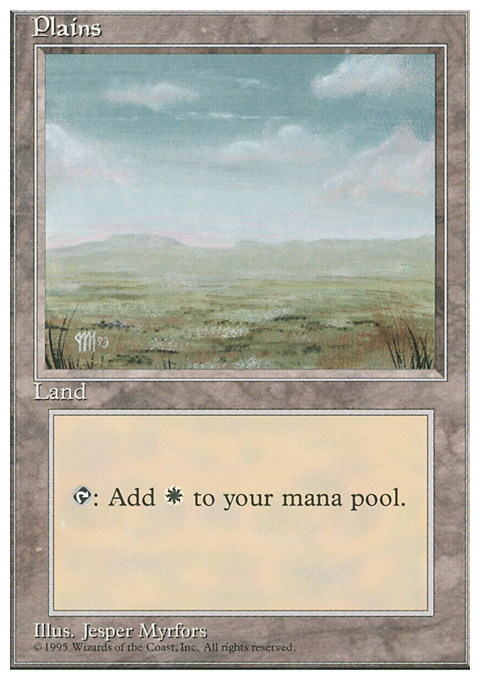 Plains (C) card from Fourth Edition