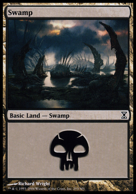 Swamp (293)  card from Time Spiral