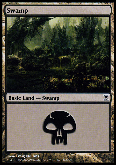 Swamp (292)  card from Time Spiral