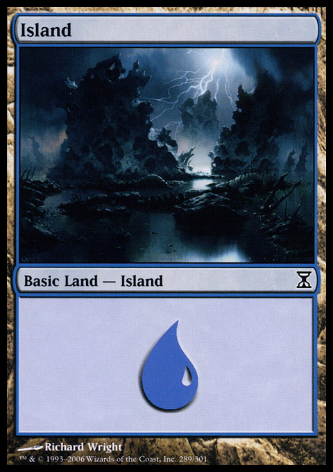 Island (289)  card from Time Spiral