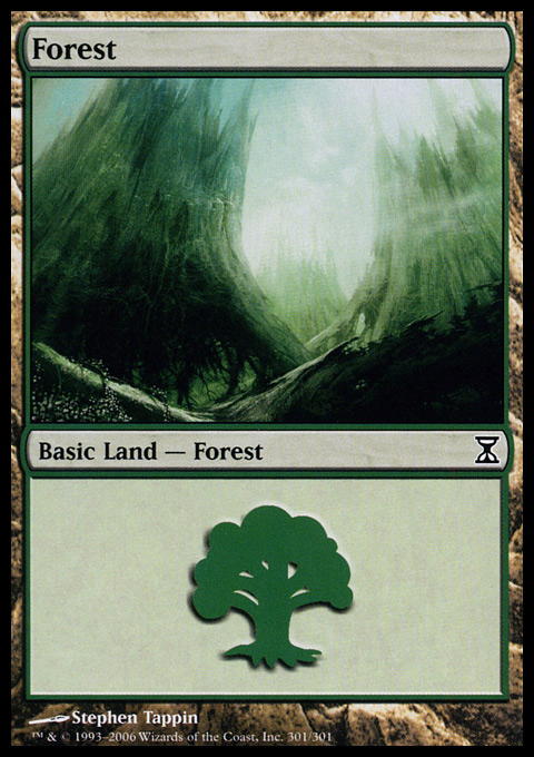 Forest (301) card from Time Spiral