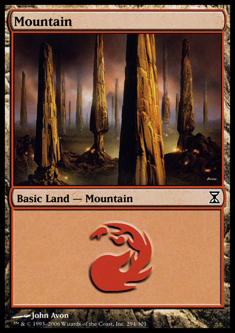 Mountain (294)  card from Time Spiral
