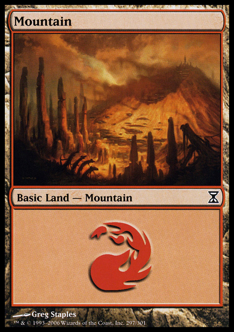 Mountain (297)  card from Time Spiral