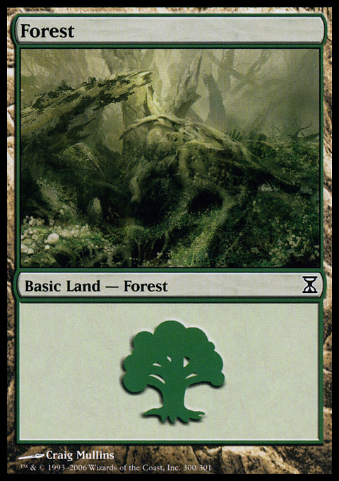 Forest (300) card from Time Spiral