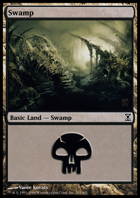 Swamp (291)  card from Time Spiral