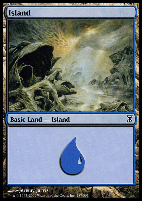 Island (287)  card from Time Spiral