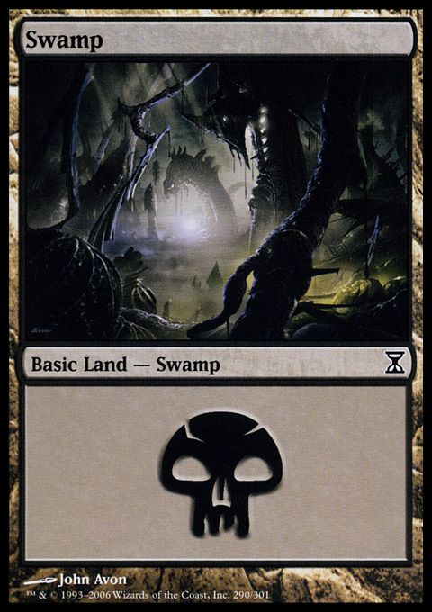 Swamp (290)  card from Time Spiral