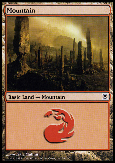 Mountain (296)  card from Time Spiral