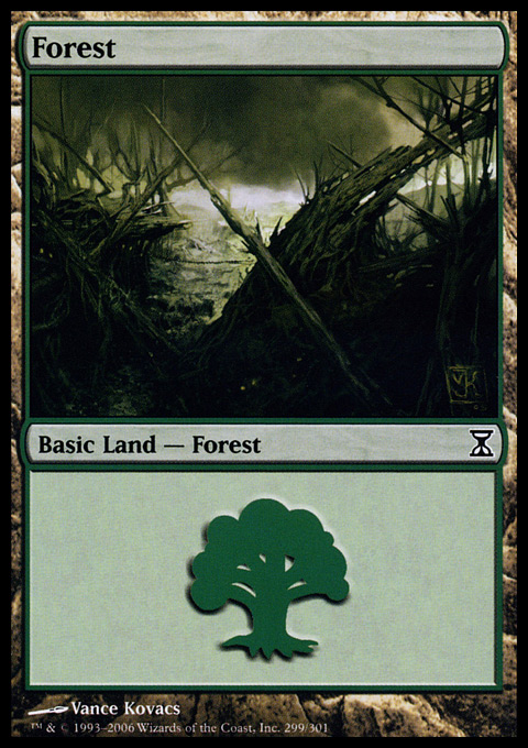 Forest (299) card from Time Spiral
