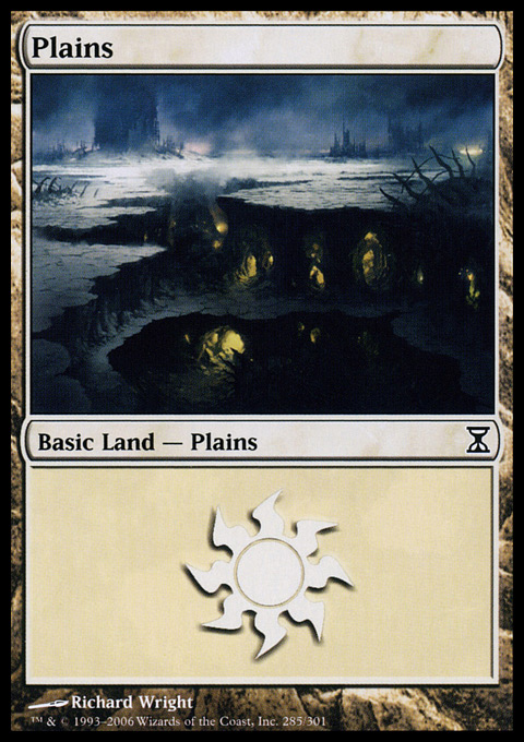 Plains (285)  card from Time Spiral