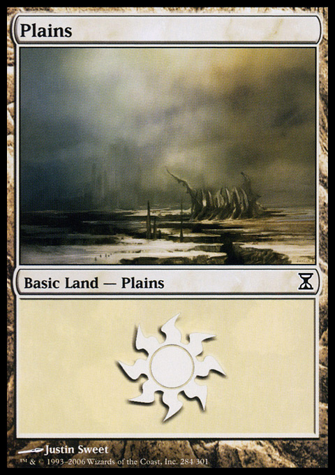 Plains (284)  card from Time Spiral