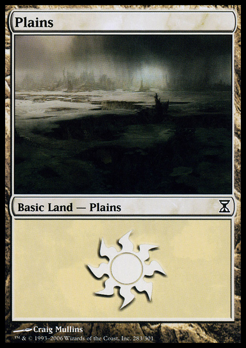 Plains (283)  card from Time Spiral