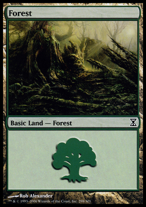 Forest (298) card from Time Spiral