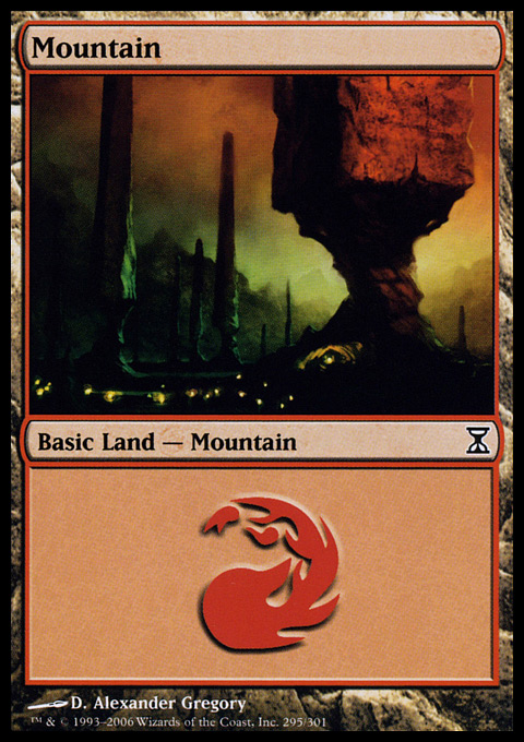 Mountain (295)  card from Time Spiral