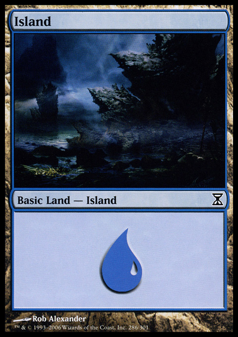 Island (286)  card from Time Spiral