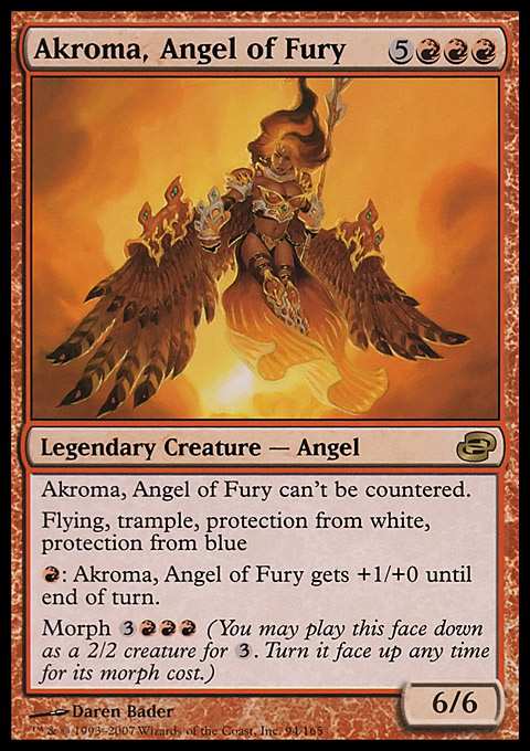Akroma, Angel of Fury card from Planar Chaos