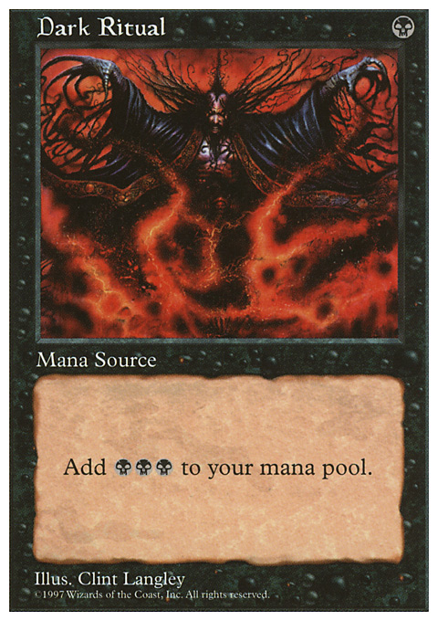 Dark Ritual card from Fifth Edition