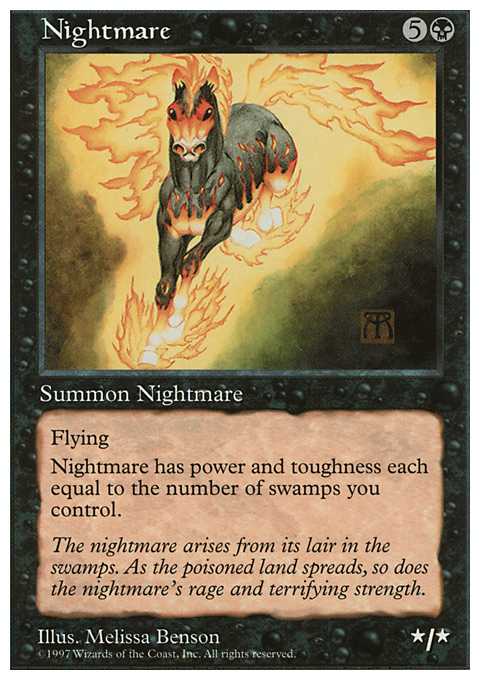 Nightmare card from Fifth Edition
