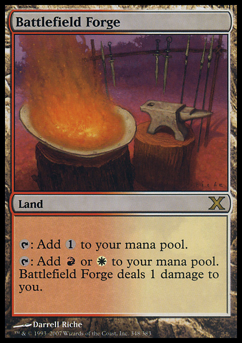 Battlefield Forge card from Tenth Edition