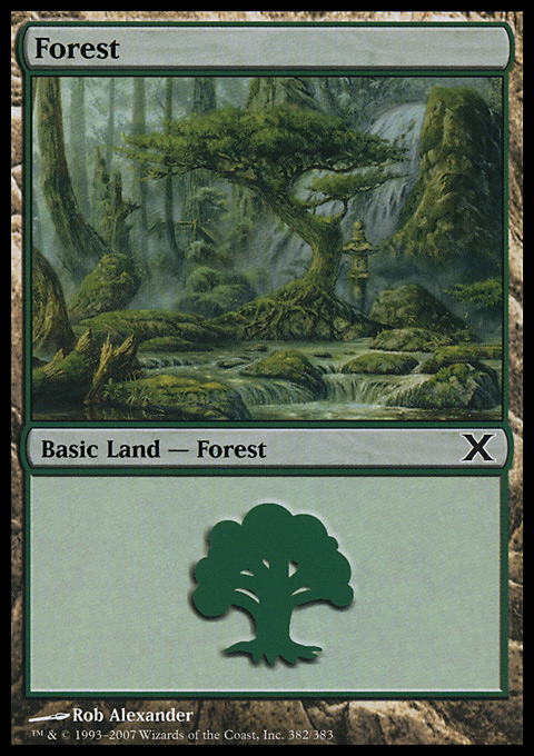 Forest (382) card from Tenth Edition