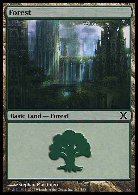 Forest (383) card from Tenth Edition