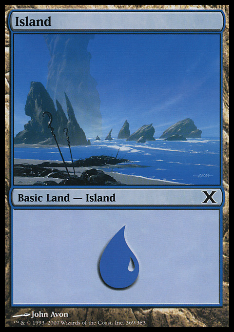 Island (369)  card from Tenth Edition