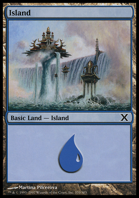 Island (370)  card from Tenth Edition