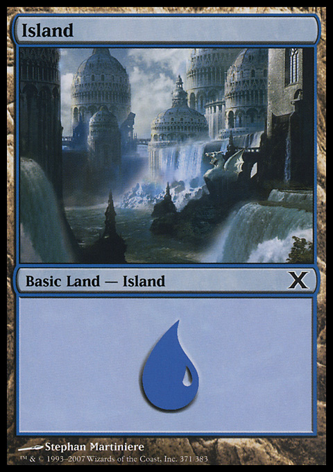 Island (371)  card from Tenth Edition
