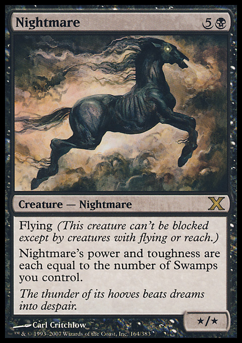 Nightmare card from Tenth Edition