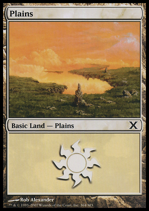 Plains (364)  card from Tenth Edition