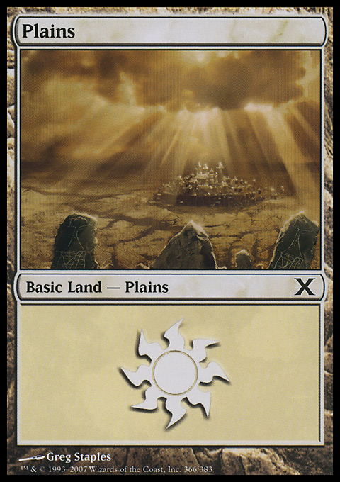 Plains (366)  card from Tenth Edition