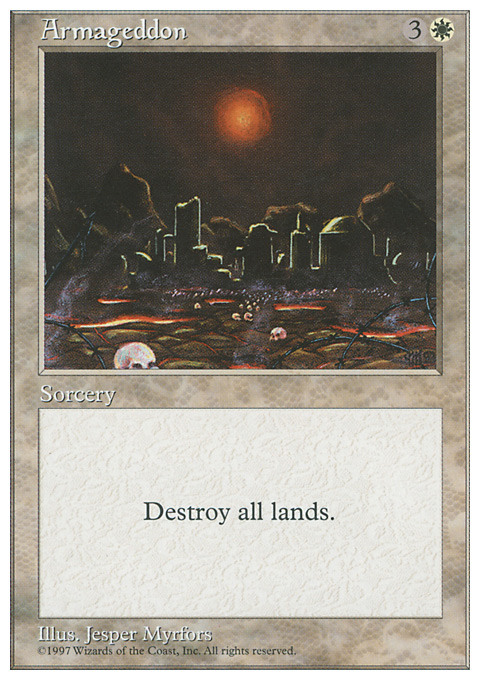Armageddon card from Fifth Edition