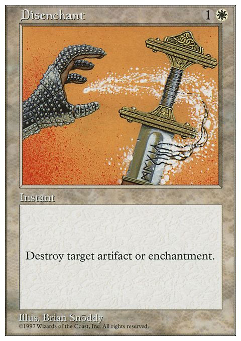Disenchant card from Fifth Edition