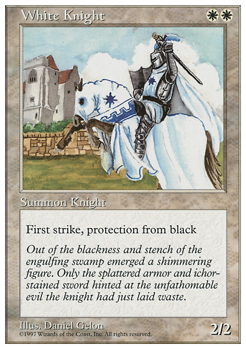 White Knight card from Fifth Edition
