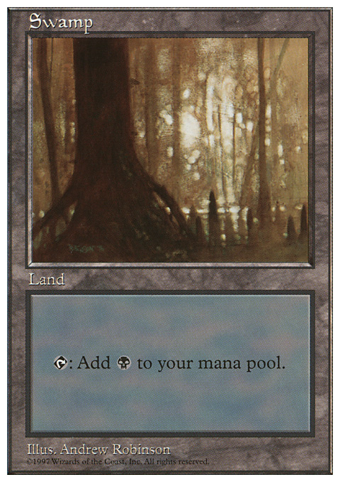 Swamp (441) card from Fifth Edition