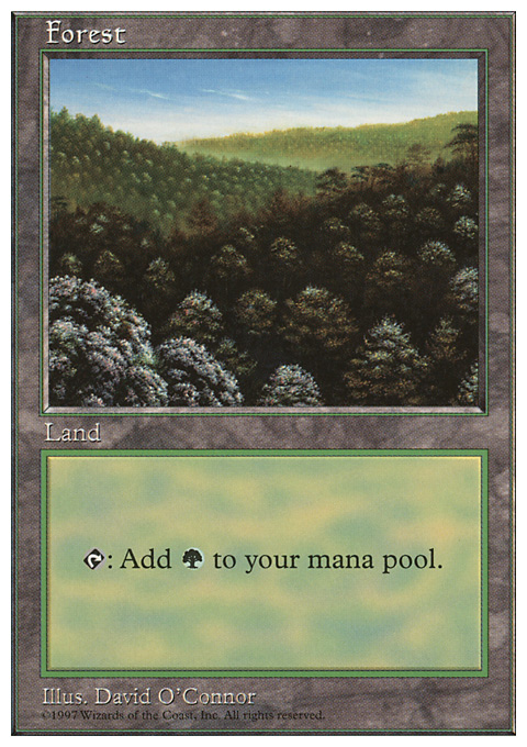 Forest (446) card from Fifth Edition