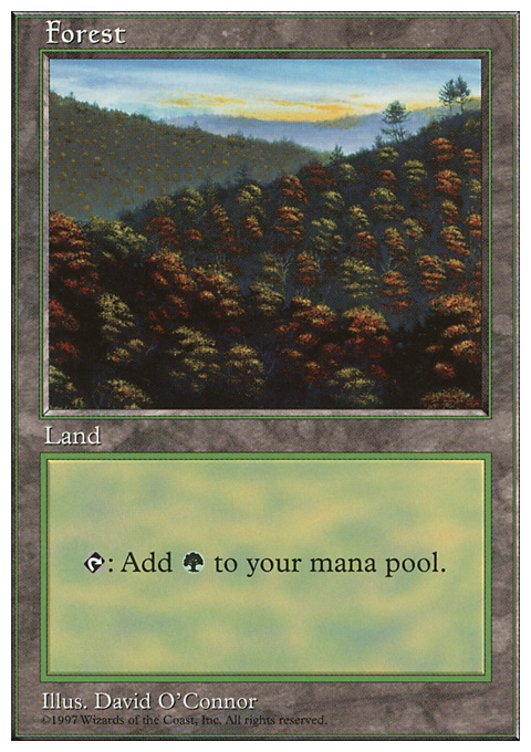 Forest (448) card from Fifth Edition
