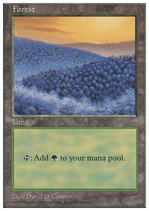 Forest (449) card from Fifth Edition