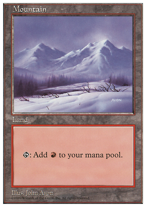 Mountain (442) card from Fifth Edition