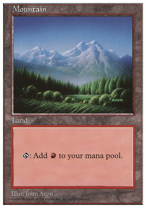 Mountain (443) card from Fifth Edition
