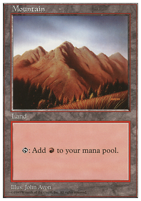 Mountain (444) card from Fifth Edition