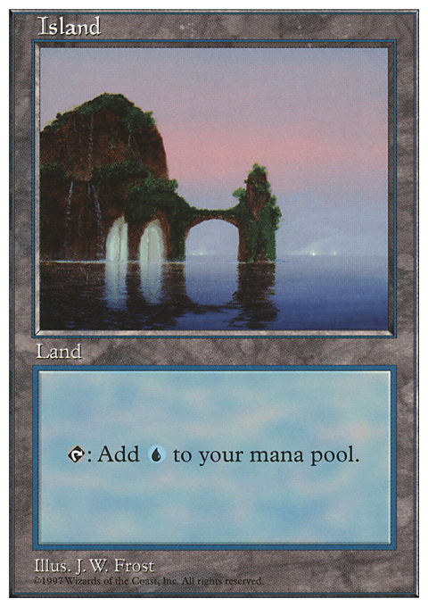 Island (434) card from Fifth Edition