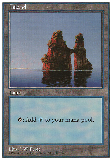 Island (436) card from Fifth Edition