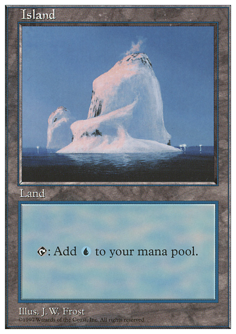 Island (437) card from Fifth Edition