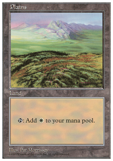 Plains (433) card from Fifth Edition