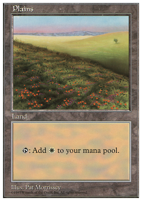 Plains (431) card from Fifth Edition
