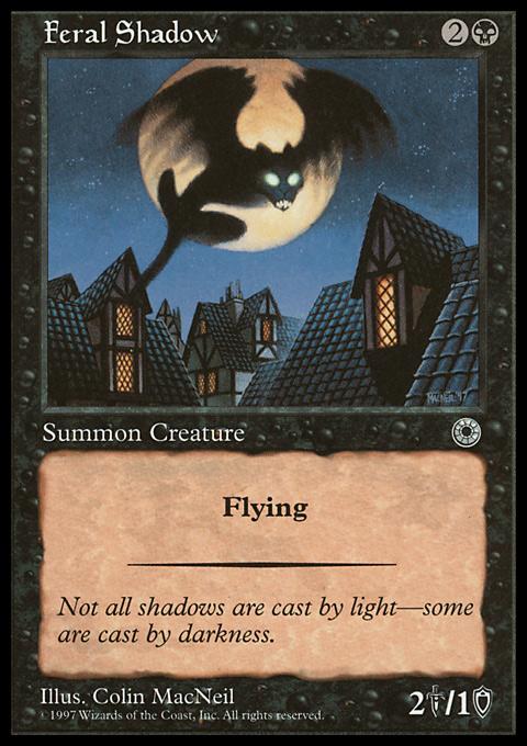 Feral Shadow card from Portal